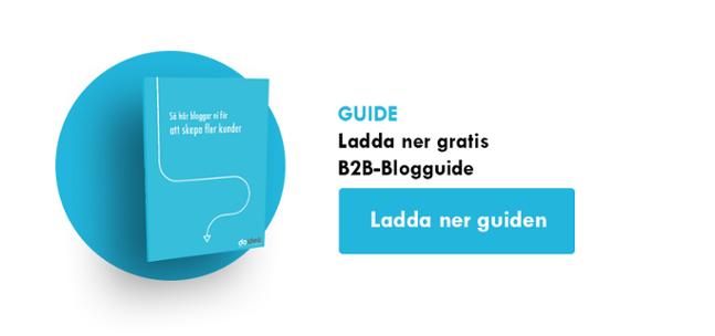 Ladda ner gratis B2B-Blogguide