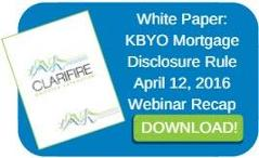 KBYO Mortgage Disclosure Rule Webinar Recap
