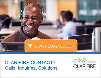 Download eBook CLARIFIRE CONTECT calls inquiries solutions.