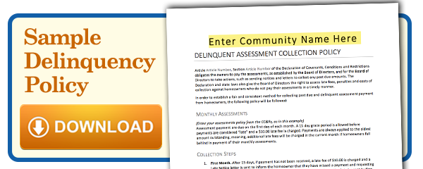 sample delinquency policy