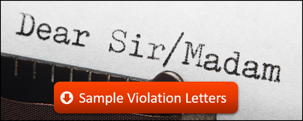 Download these sample violation letter templates