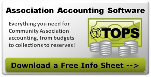 Learn more about TOPS Professional Community Association Accounting Software - Free Info Sheet