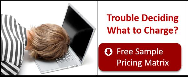 Download this sample pricing matrix