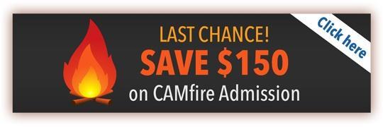 Save $150 on CAMfire admission