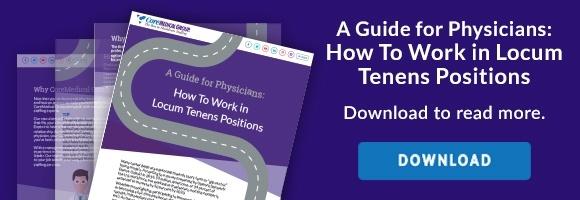 How to work in locum tenens positions