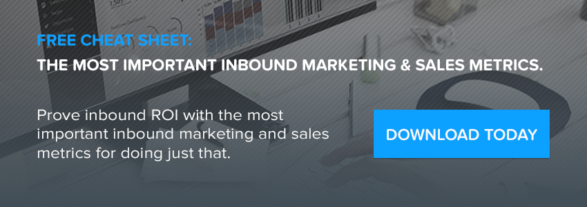 the most important inbound marketing and sales metrics