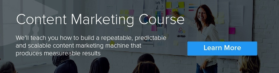 teaching content marketing courses