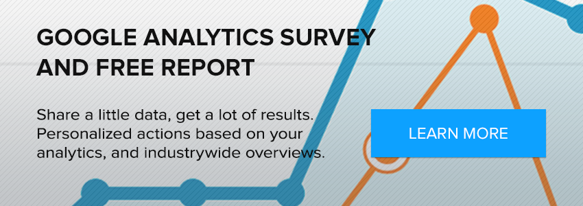 Google Analytics Survey with Free Report