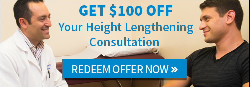 Get $100 OFF Your Height Lengthening Consultation Today!