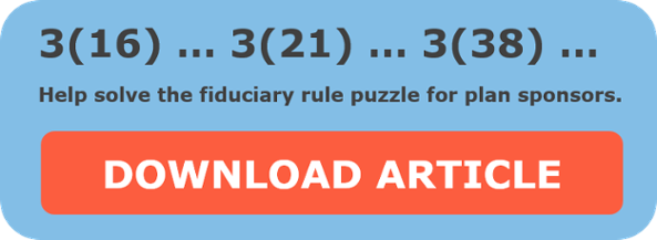 solve the fiduciary rule puzzle for plan sponsors
