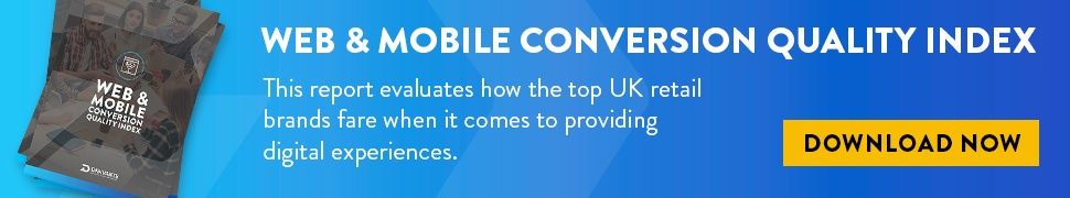 Web & mobile conversion quality index CTA