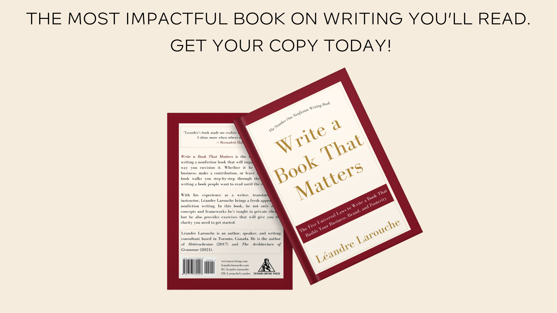 Get Your Copy of Write a Book That Matters
