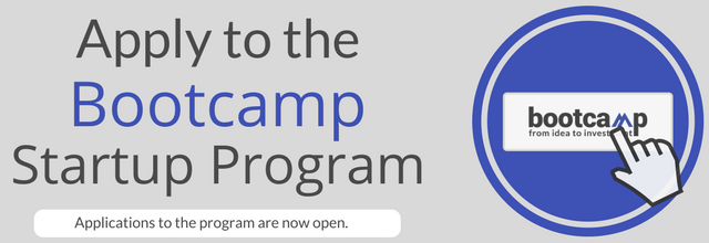 The Bootcamp startup program applications are now open, apply by April 16.