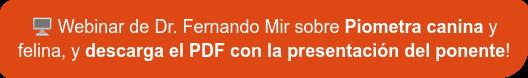 ¡Ver el vídeo del Dr. Fernando Mir sobre Piometría Canina y descargar el PDF  con la información!