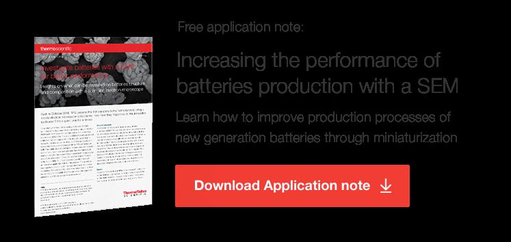 Application Note Batteries SEM
