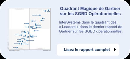 Lisez le rapport complet de Gartner: InterSystems leader des SGBD opérationnelles dans le Quadrant Magique de  Gartner