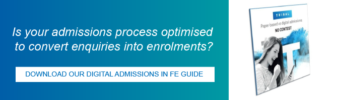 Download our digital admissions in FE guide