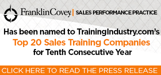 FranklinCovey Sales Performance Practice Names to TrainingIndustry.com's Top 20 Sales Training Companies for 10th Consecutive Year
