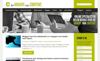 Naar De kracht van content, het weblog voor en door contentspecialisten