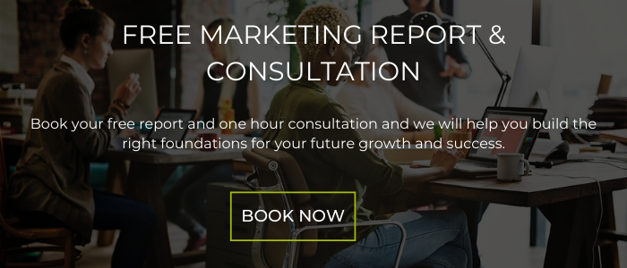 CTA Banner - Free Marketing Report and Consultation - Book Now
