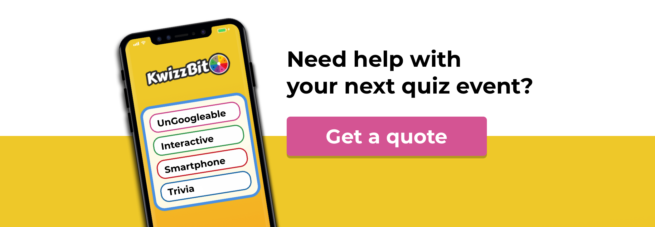 get a quote for your next quiz event