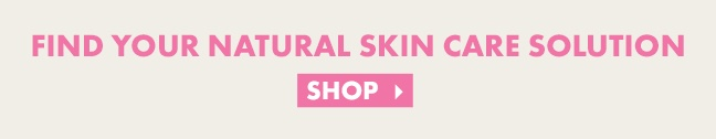 """Pink graphic that reads """"Find your natural skin care solution"""""""