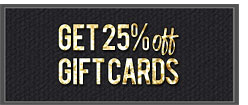 25% off gift cards