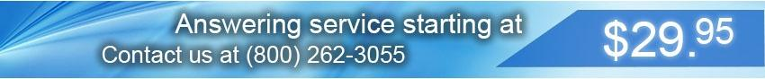 Answering service starting at $29.95