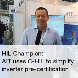 AIT uses Controller Hardware in the Loop to simplify inverter pre-certification