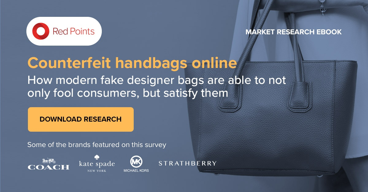 Red Points research of counterfeit handbags online