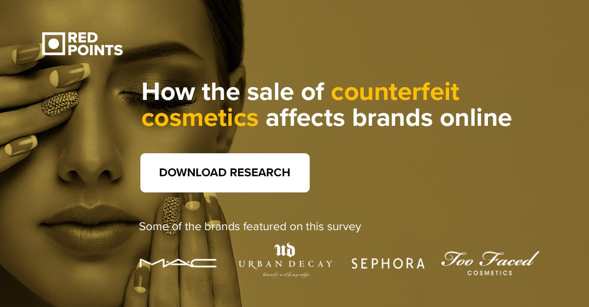 Market research on counterfeit cosmetics online