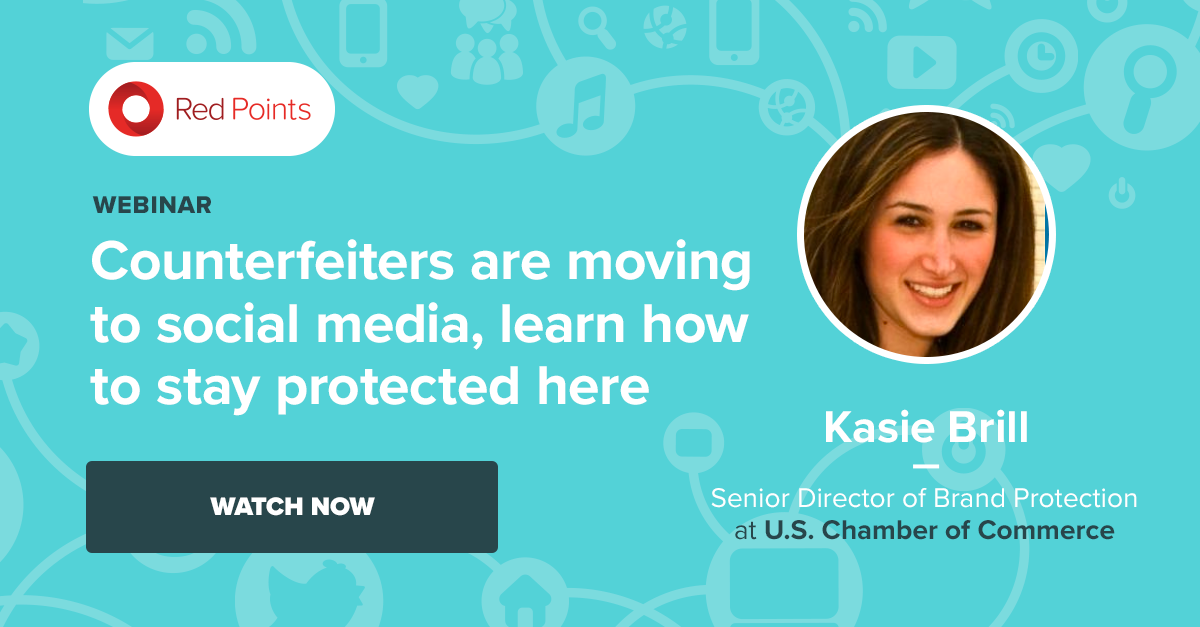 Brand Protection specialists Red Points' anti-counterfeiting on social media webinar with US CoC Director Kasie Brill