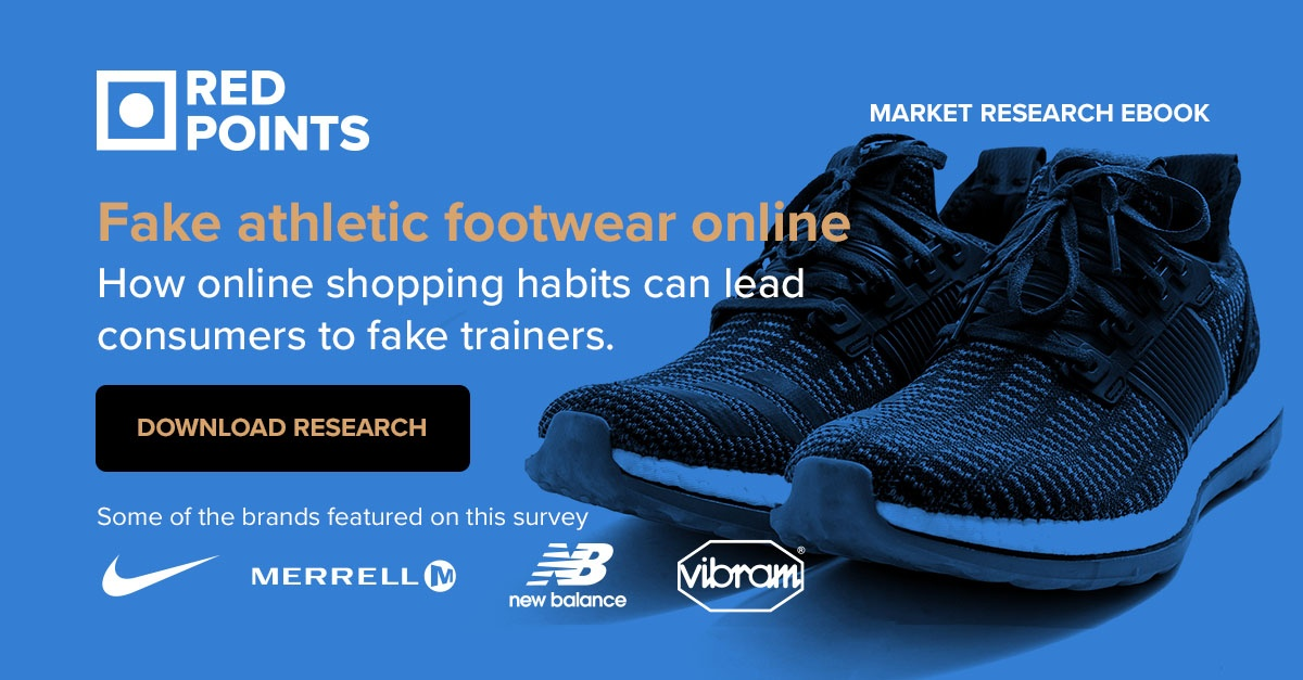 Fake athletic footwear