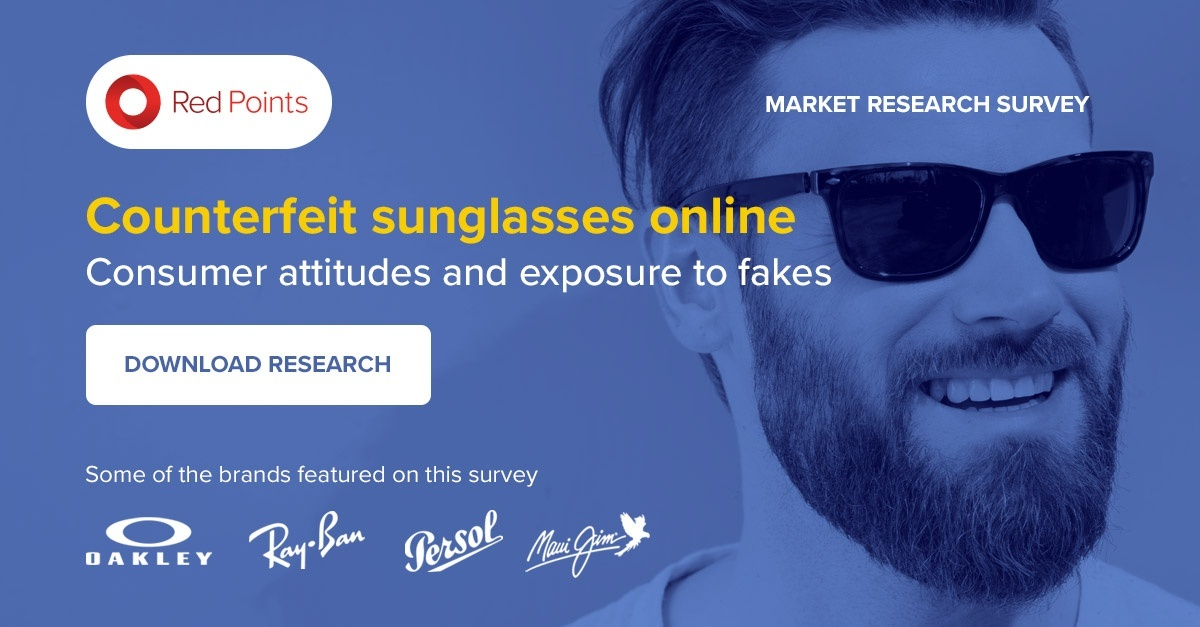 Red Points ebook on consumer attitudes to counterfeit sunglasses online