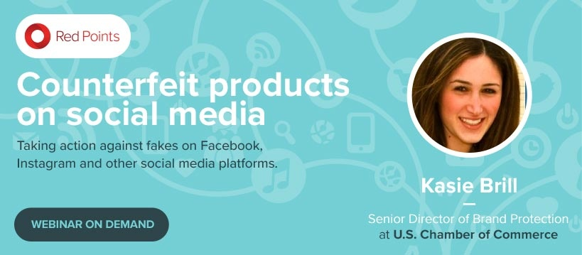 Red Points webinar on counterfeit products on social media