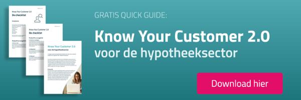 Know Your Customer 2.0 voor de hypotheeksector - gratis quick guide downloaden