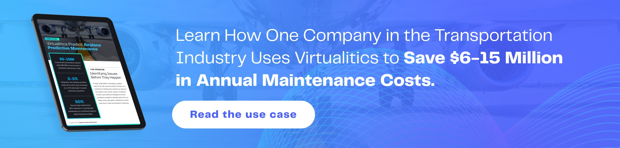 Learn how one company in the transportation industry uses Virtualitics to save $6-15 million in annual maintenance costs