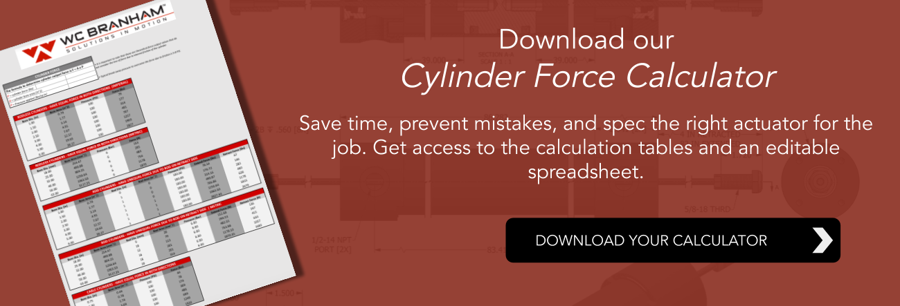 cylinder force calculator