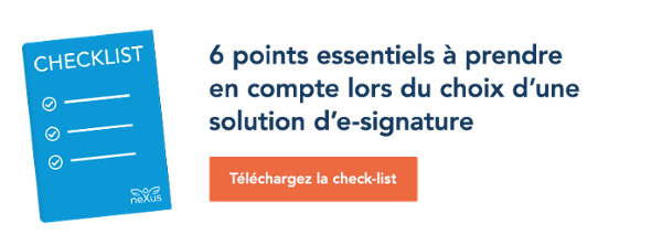 Checklist: 6 points essentiels à prendre en compte lors du choix d'une solution d'e-signature