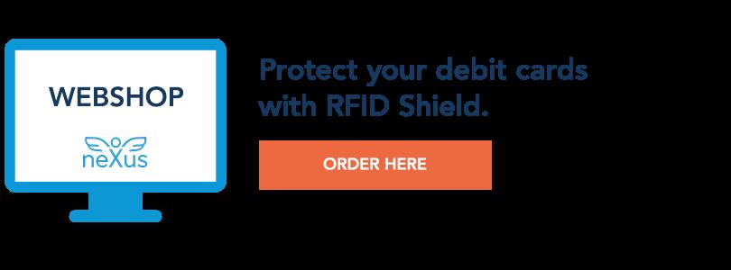 Order RFID Shield in Nexus Webshop