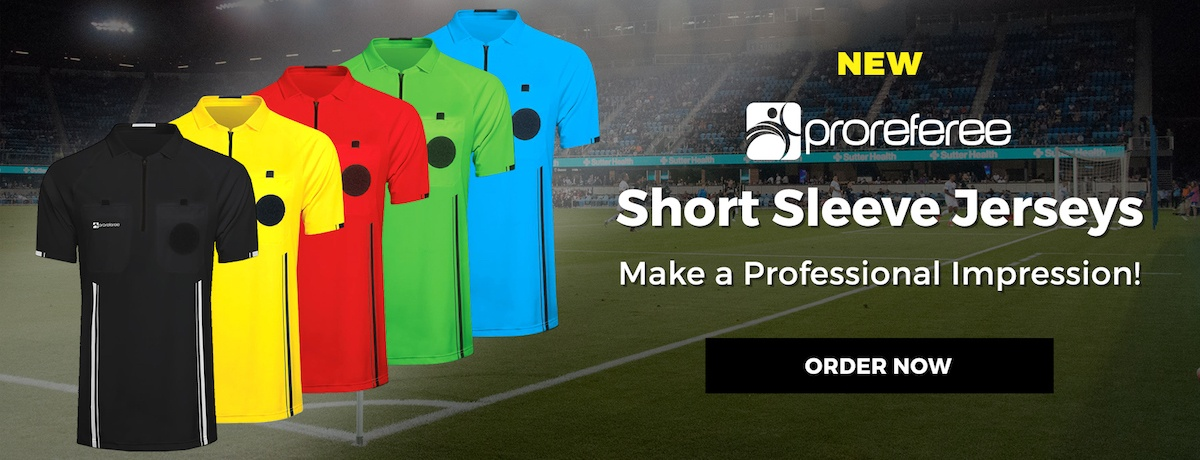 ProReferee Short Sleeve Jerseys: Make a Professional Impression! ORDER NOW