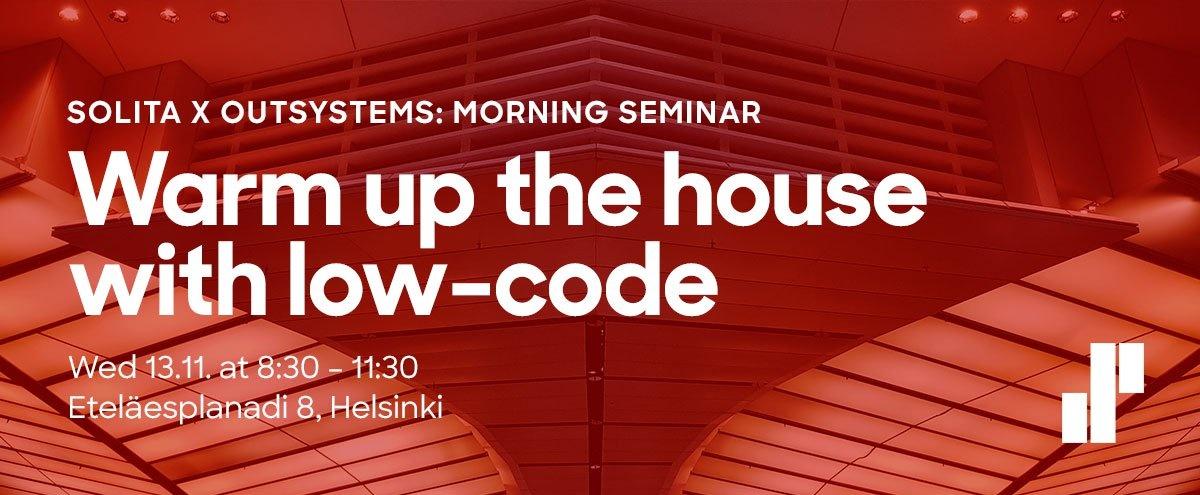Solita x Outsystems: morning seminar