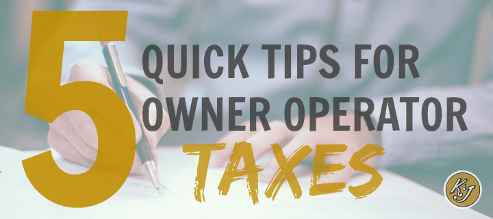 owner operator taxes