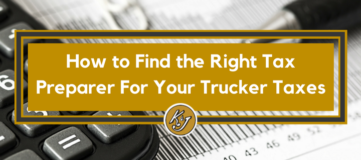 finding a tax preparer for truckers