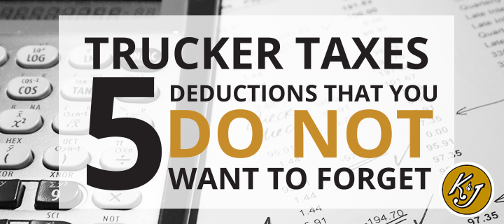 trucker tax deductions