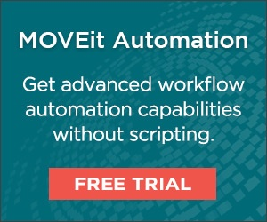 Get advanced workflow automation capabilities withoutscripting. Try a free  trial of MOVEit Automation today.