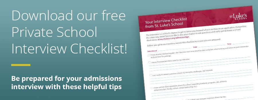 Download our free private School interview checklist