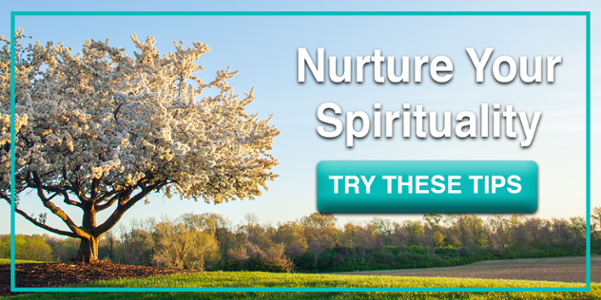 how to incorporate spirituality into your life button