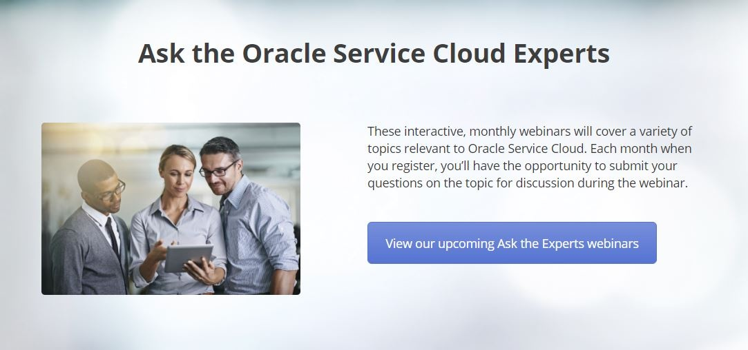 Ask CPI's Oracle Service Cloud Experts