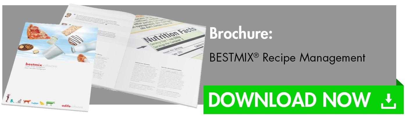 BESTMIX Recipe Management